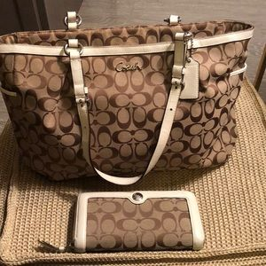 Matching Coach Wallet and Bag.